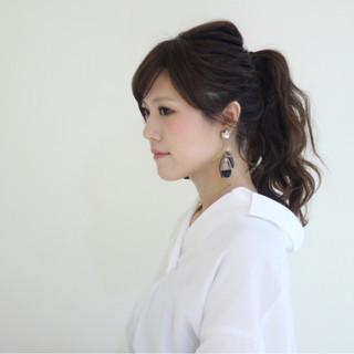アンニュイ ヘアアレンジ ウェーブ セミロング ヘアスタイルや髪型の写真・画像