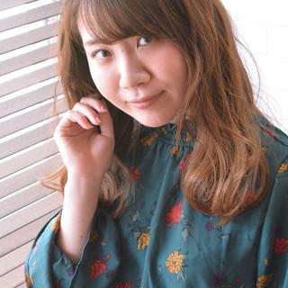 ヘアアレンジ 髪質改善トリートメント デート セミロング ヘアスタイルや髪型の写真・画像