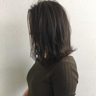ボブ ナチュラル ミディアム ロブ ヘアスタイルや髪型の写真・画像