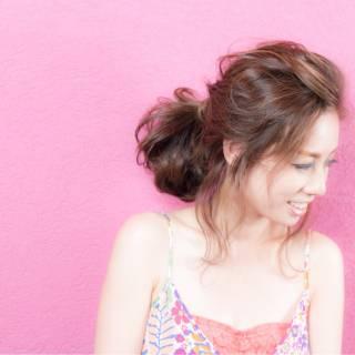 ゆるふわ ナチュラル ヘアアレンジ 外国人風カラー ヘアスタイルや髪型の写真・画像