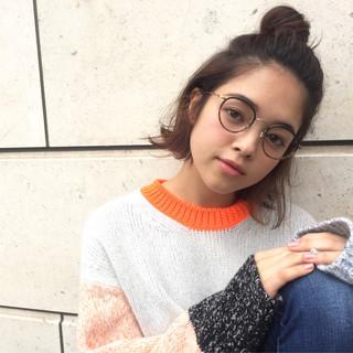 外国人風 簡単ヘアアレンジ グラデーションカラー ショート ヘアスタイルや髪型の写真・画像 ヘアスタイルや髪型の写真・画像