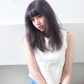 暗髪 外国人風 セミロング かっこいい ヘアスタイルや髪型の写真・画像 ヘアスタイルや髪型の写真・画像