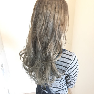 ロング ストリート モテ髪 外国人風カラー ヘアスタイルや髪型の写真・画像