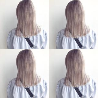 ナチュラル ブリーチカラー 外国人風 外国人風カラー ヘアスタイルや髪型の写真・画像
