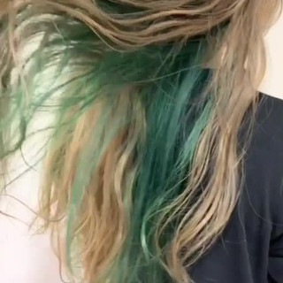 モード デート ダブルカラー スタイリング動画 ヘアスタイルや髪型の写真・画像