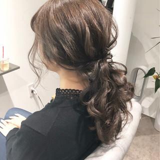 ナチュラル ヘアアレンジ ポニーテール デート ヘアスタイルや髪型の写真・画像 ヘアスタイルや髪型の写真・画像