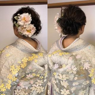 ミディアム 結婚式髪型 アップスタイル ヘアアレンジ ヘアスタイルや髪型の写真・画像