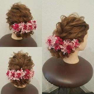 和装 ヘアアレンジ ロング アップスタイル ヘアスタイルや髪型の写真・画像 ヘアスタイルや髪型の写真・画像