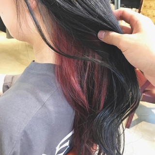 インナーカラー ラベージュ oggiotto ロング ヘアスタイルや髪型の写真・画像