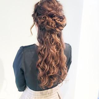 学校 謝恩会 フェミニン ロング ヘアスタイルや髪型の写真・画像