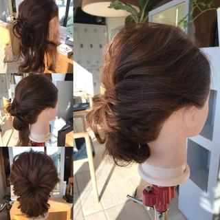 ヘアアレンジ ナチュラル ロープ編み ロング ヘアスタイルや髪型の写真・画像