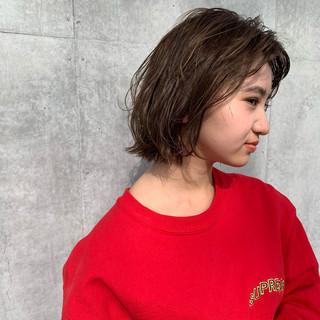 ミニボブ ウルフカット ショートボブ パーマ ヘアスタイルや髪型の写真・画像