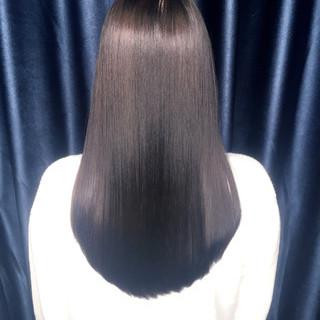 暗髪 黒髪 ロング ストレート ヘアスタイルや髪型の写真・画像 ヘアスタイルや髪型の写真・画像