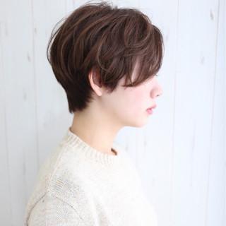 大人女子 ショート ボブ 小顔 ヘアスタイルや髪型の写真・画像 ヘアスタイルや髪型の写真・画像