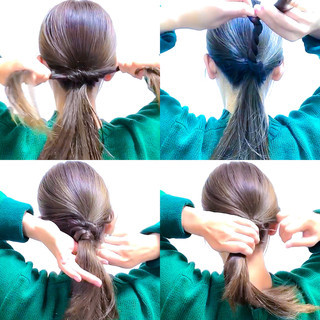 セルフヘアアレンジ ショート 簡単ヘアアレンジ 上品 ヘアスタイルや髪型の写真・画像 ヘアスタイルや髪型の写真・画像