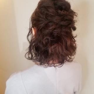ヘアアレンジ ナチュラル 簡単ヘアアレンジ ボブ ヘアスタイルや髪型の写真・画像