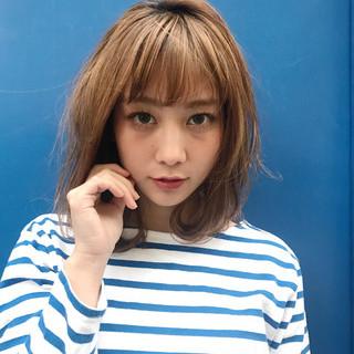 透明感 ブリーチ ボブ 外国人風 ヘアスタイルや髪型の写真・画像