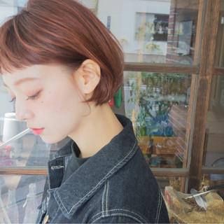 ガーリー 前髪あり 冬 ショートボブ ヘアスタイルや髪型の写真・画像