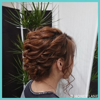 結婚式 ヘアアレンジ エレガント デート ヘアスタイルや髪型の写真・画像