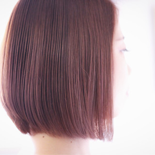 前下がり ラベンダーピンク ナチュラル ピンクベージュ ヘアスタイルや髪型の写真・画像