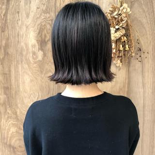 切りっぱなしボブ 外ハネボブ ナチュラル ショートボブ ヘアスタイルや髪型の写真・画像