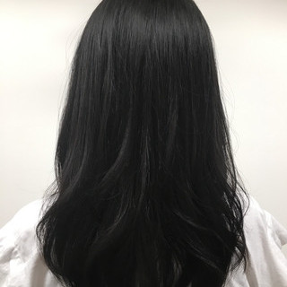 レイヤーカット セミロング 黒髪 ミディアム ヘアスタイルや髪型の写真・画像 ヘアスタイルや髪型の写真・画像