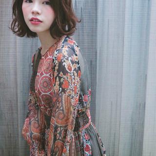 フェミニン 色気 ストリート パーマ ヘアスタイルや髪型の写真・画像