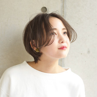 小顔 ショート フェミニン マッシュ ヘアスタイルや髪型の写真・画像 ヘアスタイルや髪型の写真・画像