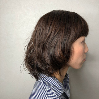 ナチュラル デジタルパーマ ゆるふわ パーマ ヘアスタイルや髪型の写真・画像