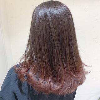 グラデーションカラー ピンクベージュ ナチュラル イルミナカラー ヘアスタイルや髪型の写真・画像