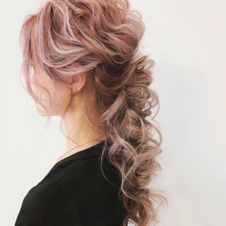 ヘアアレンジ ウェーブ ゆるふわ 大人かわいい ヘアスタイルや髪型の写真・画像 ヘアスタイルや髪型の写真・画像