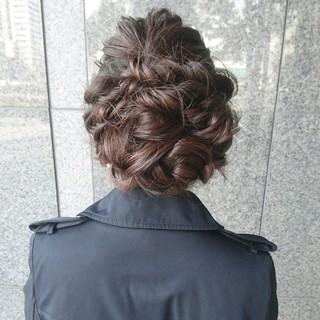 こなれ感 結婚式 セミロング ナチュラル ヘアスタイルや髪型の写真・画像