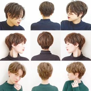 オフィス ハンサムショート デート ショートボブ ヘアスタイルや髪型の写真・画像