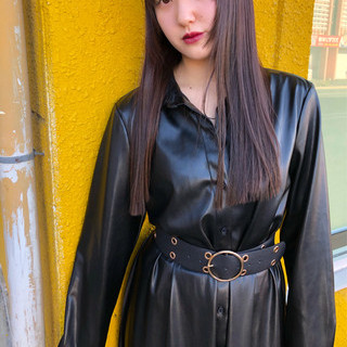 黒髪 ウルフカット モード ロング ヘアスタイルや髪型の写真・画像