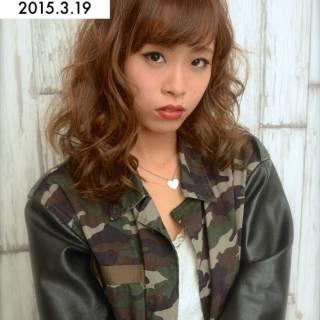 ミディアム 渋谷系 ストリート 愛され ヘアスタイルや髪型の写真・画像