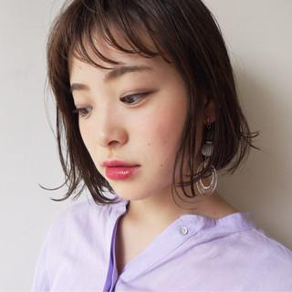 女子力 前髪あり 大人かわいい ナチュラル ヘアスタイルや髪型の写真・画像