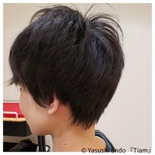 大人かわいい 黒髪 大人カジュアル 黒髪ショート ヘアスタイルや髪型の写真・画像