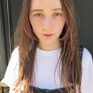パーマ ポイントカラー ハイライト ハイトーン ヘアスタイルや髪型の写真・画像