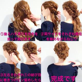 フェミニン 簡単ヘアアレンジ ヘアアレンジ ゆるふわ ヘアスタイルや髪型の写真・画像
