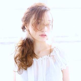 ナチュラル ショート セミロング 簡単ヘアアレンジ ヘアスタイルや髪型の写真・画像