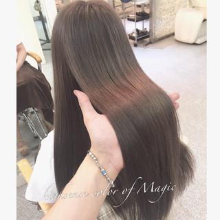 アッシュ ブラウン 暗髪 大人かわいい ヘアスタイルや髪型の写真・画像 ヘアスタイルや髪型の写真・画像