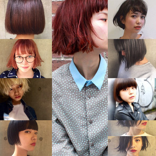 外国人風 パーマ 黒髪 グラデーションカラー ヘアスタイルや髪型の写真・画像