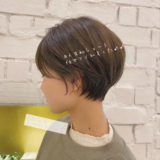 大人かわいい ショートヘア ナチュラル ベリーショート ヘアスタイルや髪型の写真・画像