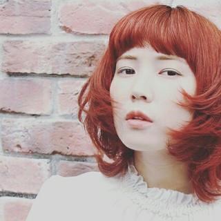 ハイライト 外ハネ フェミニン 大人かわいい ヘアスタイルや髪型の写真・画像