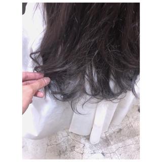 セミロング 抜け感 ナチュラル デート ヘアスタイルや髪型の写真・画像 ヘアスタイルや髪型の写真・画像