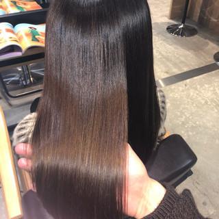 縮毛矯正 ロング トリートメント サイエンスアクア ヘアスタイルや髪型の写真・画像