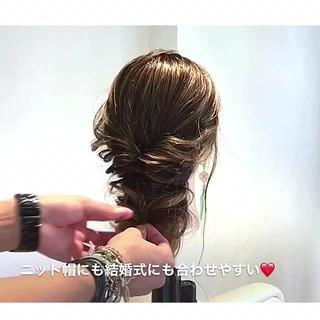 フェミニン 結婚式 ルーズ 女子会 ヘアスタイルや髪型の写真・画像