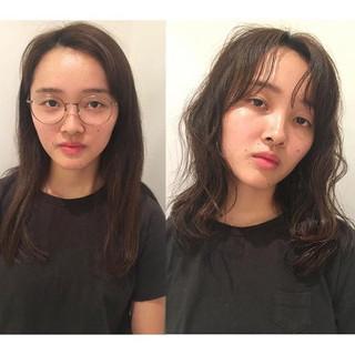 ナチュラル パーマ 抜け感 ウェットヘア ヘアスタイルや髪型の写真・画像