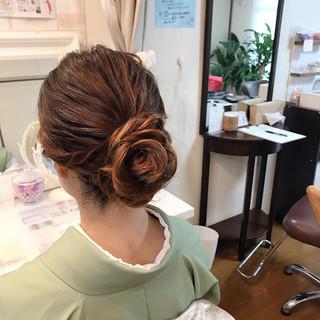 着物 和装ヘア 結婚式 卒業式 ヘアスタイルや髪型の写真・画像
