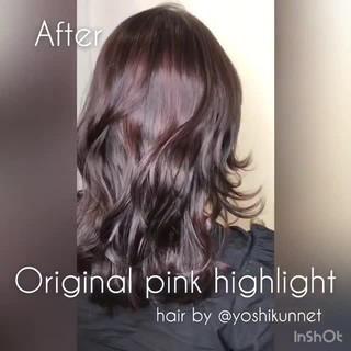 ベージュ レッド モード ピンク ヘアスタイルや髪型の写真・画像